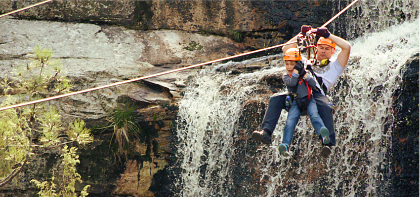Zipline Tour over Waterfalls South Africa
